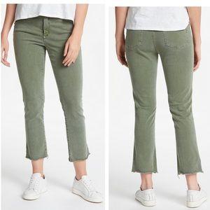 Nydj topiary olive green fray hem jeans new